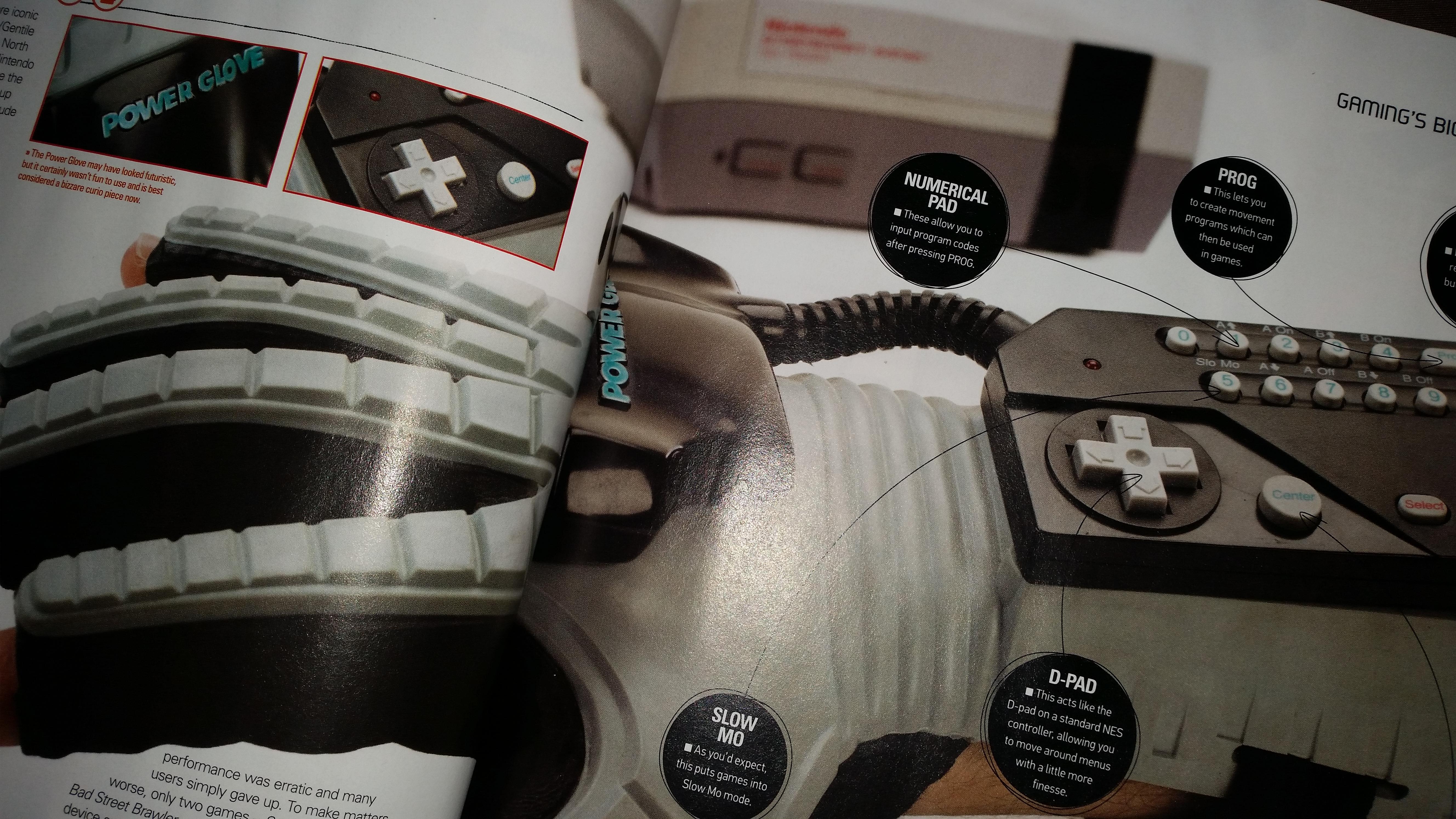 Power Glove w prawie całej okazałości (Retro Gamer #144)
