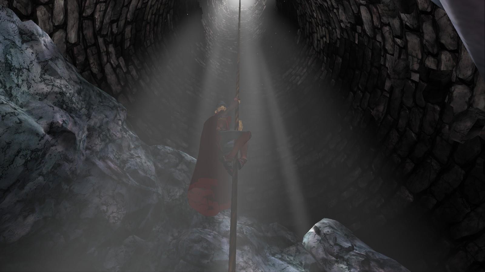 Graham jeszcze nie wie, że do wnętrze tej  studni stanie się celem niezliczonych i niebezpiecznych wypraw