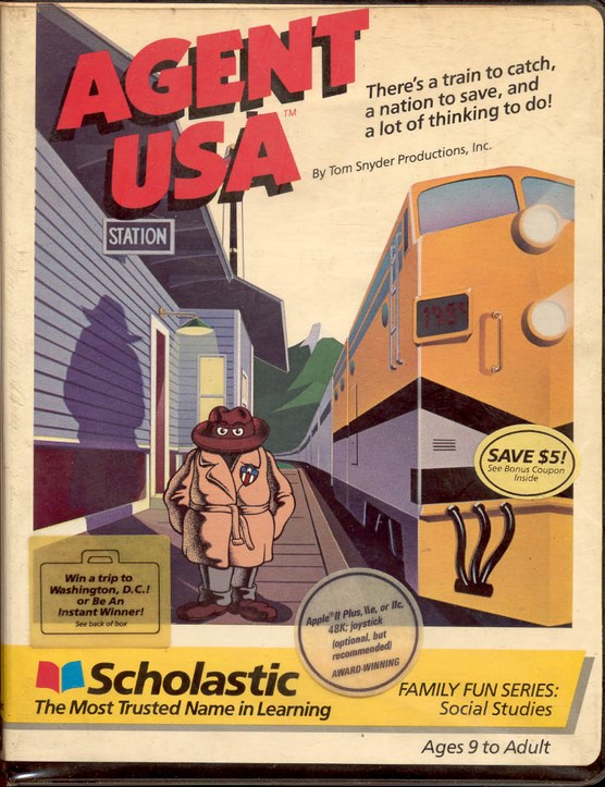 AGENT USA, 1984, Tom Snyder Productions, Scholastic Corporation