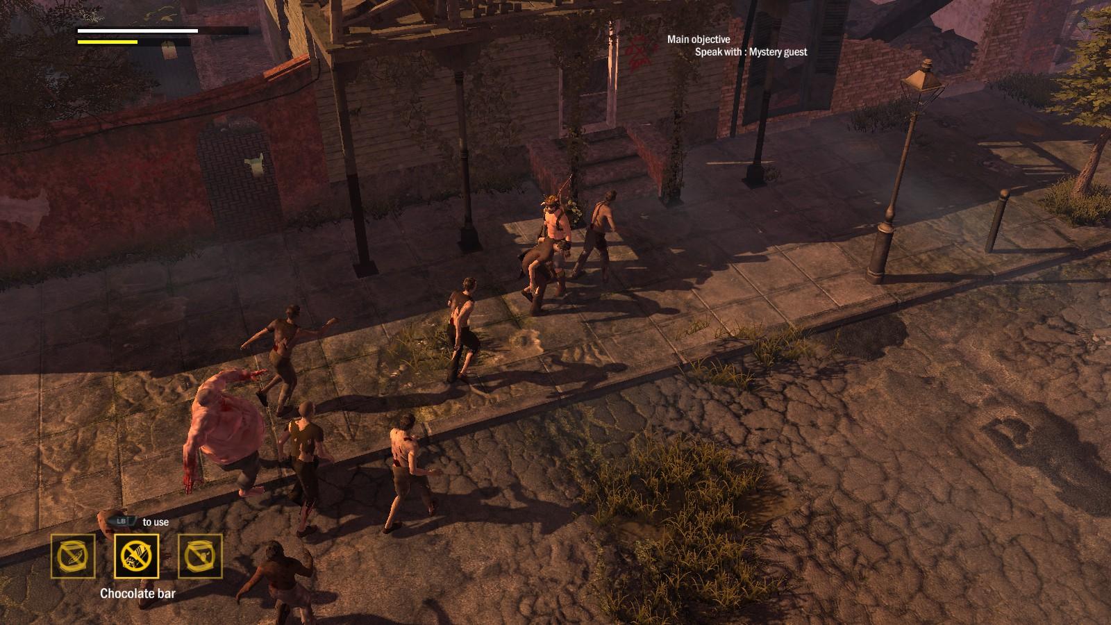 Wspominałem już, że walka z więcej niż jednym zombie bywa ciężka? Nazywając rzeczy po imieniu - w tej sytuacji mamy prze...