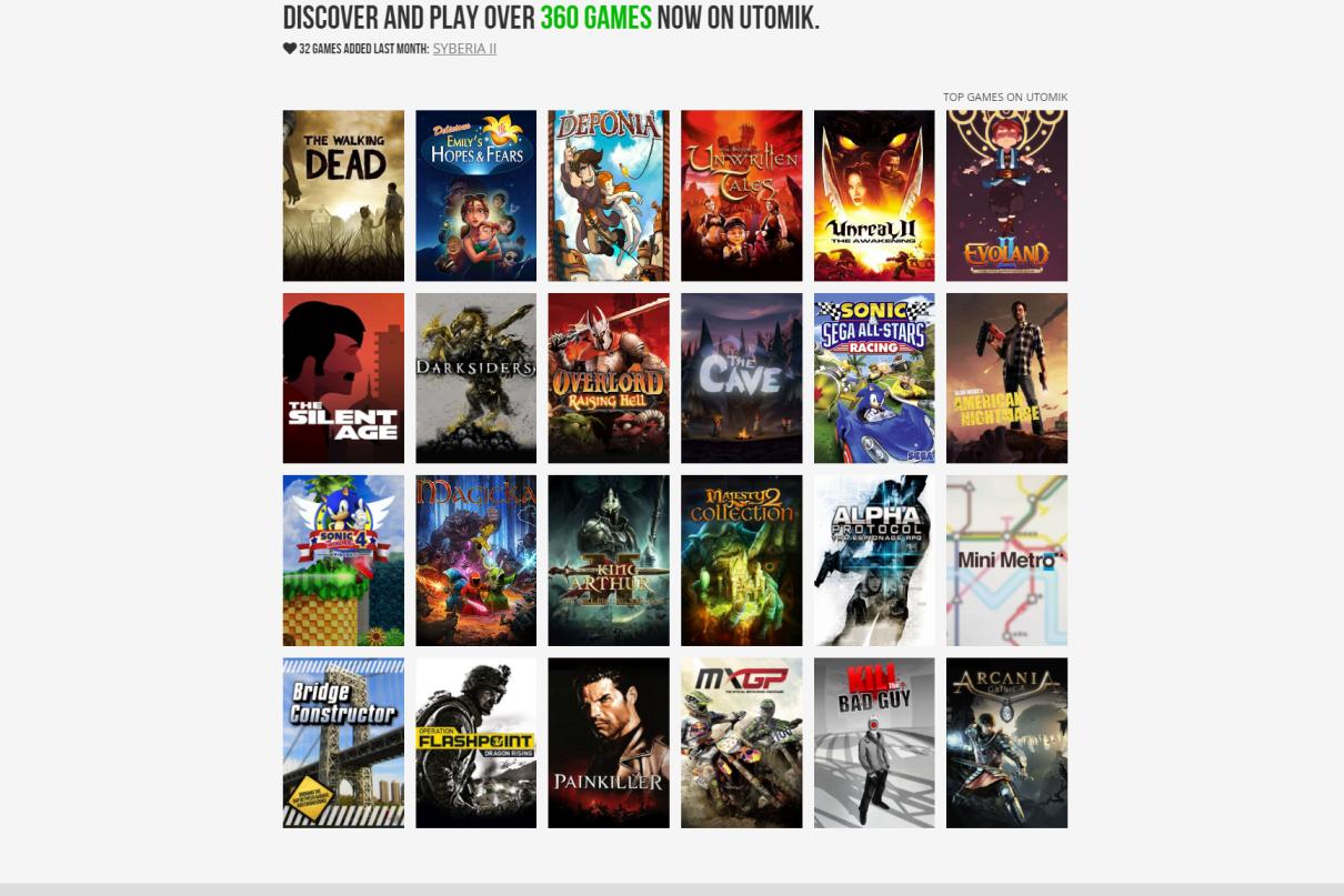 W serwisie znajduje się obecnie ponad 360 pozycji, wśród nich hity zarówno z sektora indie, jak i gry AAA.